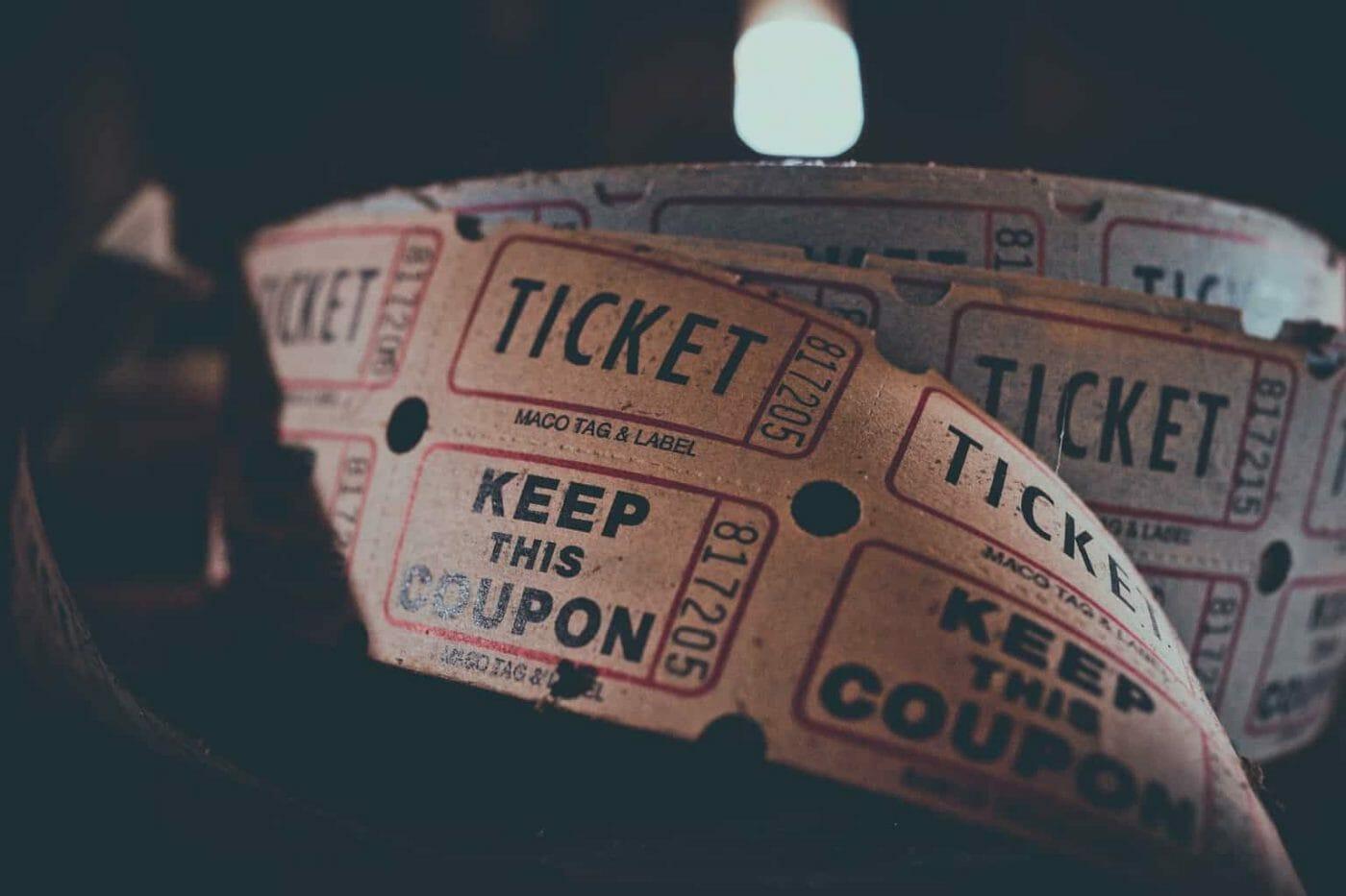 Paper admission ticket