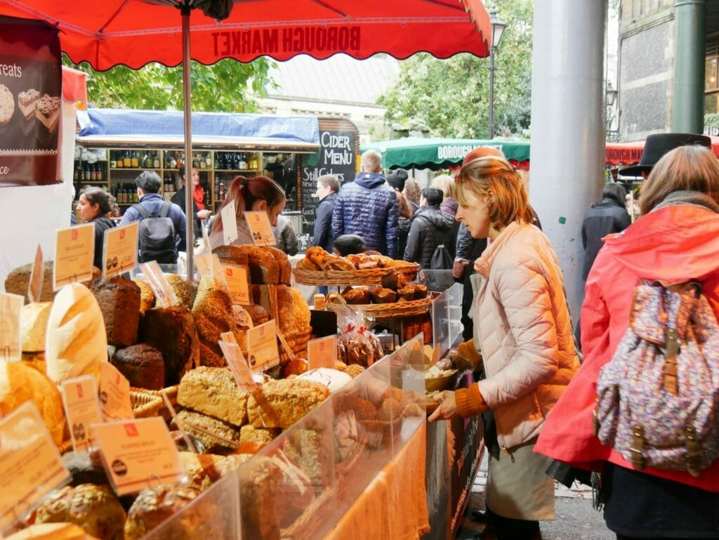 A bread shop at Borough Market London